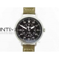 BR WW1-92 Satin-polished steel Case 1:1 Best Edition Black Dial White Markers on Leather Strap MIYOTA 9015 - InTimeWatch