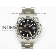 Explorer II 42mm 216570 1:1 Noob Best Edition Black Dial on SS Bracelet A23J - InTimeWatch