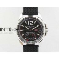 Mille Miglia SS Real Power Reserve Display Black Textured dial on Black Rubber Strap A2824 - InTimeWatch