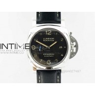PAM 1359 S V6 1:1 Best Edition Black Dial on Black Leather Strap 23J P9010 - InTimeWatch