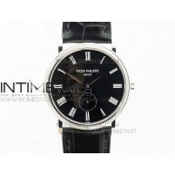 PP@6 SS Best Edition Black Dial on Black Leather Strap - InTimeWatch