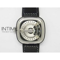 SevenFriday M1 1:1 Best Edition White Dial on Black Leather Strap Miyota 8210 - InTimeWatch