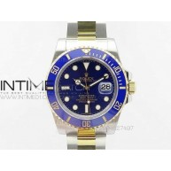 Submariner 116613 LB SS/YG JF 1:1 Best Edition Blue Dial on SS/YG Bracelet On SH3135 - InTimeWatch